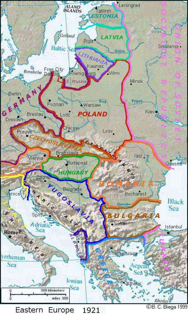 maps - central europe