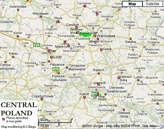 Czestochowa Poland Map.Central Poland Part 1 Czestochowa Lodz Holy Cross Mountain