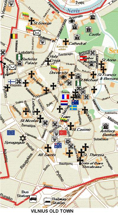 Map - Vilnius map